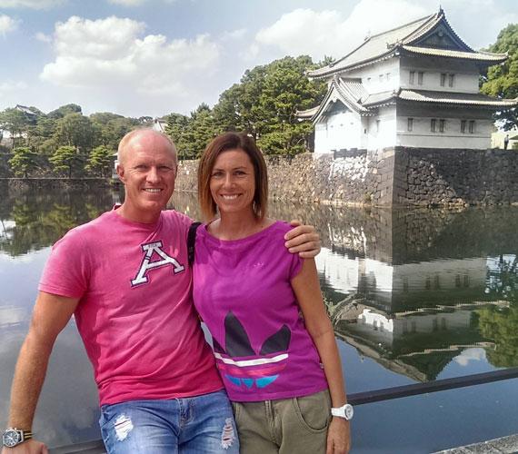 A tokiói császári palotába is ellátogattak, ami a 19. század végén lett az uralkodó rezidenciája.