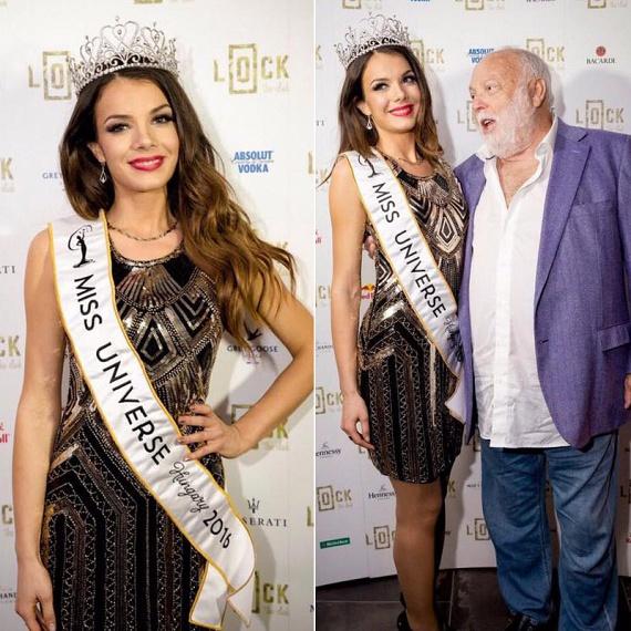 Bódizs Veronika, a Miss Universe Hungary 2016 győztese és egyben közönségdíjasa Andy Vajnával is fotózkodott.