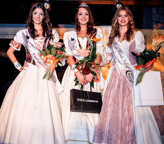 A három dobogós, akik Magyarországot képviselik a Miss Alpok-Adrián.