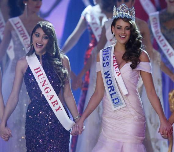 Kulcsár Edina hajszál híján a világ legszebb nője lett: ő a 2014-es Miss World győztesének első udvarhölgye.