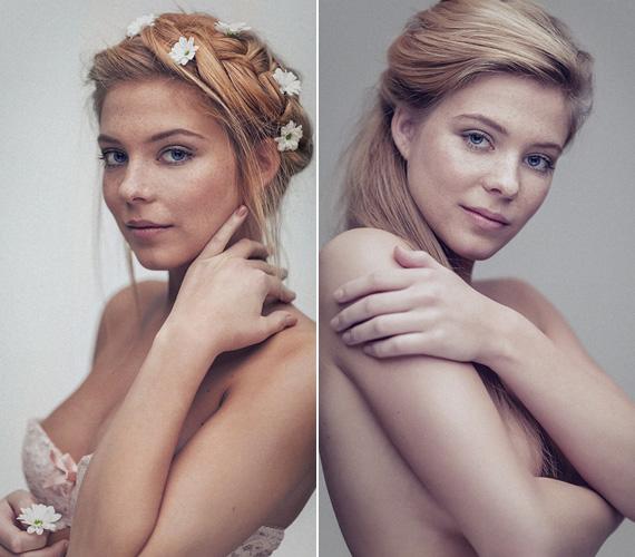 A tavasztündéresnek nevezett sorozat két képe, melyek egy bájos, ártatlan lányt mutatnak.