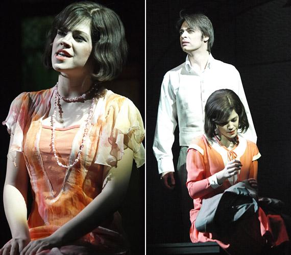Muri Enikő új oldaláról mutatkozhat be a Madách Színház Én, József Attila című darabjában. A jobb oldali fotón a költőt alakító Posta Victorral látható.