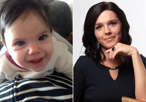 Szöllősi Györgyi, az M1 híradósa február elején tett fel fotókat a Facebook-oldalára kislányáról, Kamilláról, aki 2014. szeptember 30-án éjfélkor született meg.