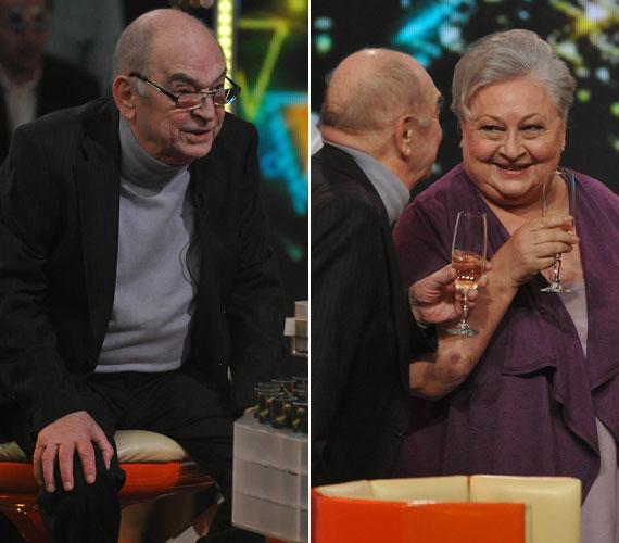 Két Kossuth- és Jászai Mari-díjas színművészünk, Bodrogi Gyula és Molnár Piroska is versenyzett az M1 műsorában.