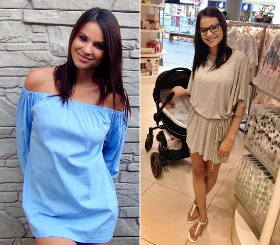 """""""Patrik nő, mint a gomba! Nagyon nagy szerencsénk van, hogy ilyen nyugodt baba. Így tegnap végre én is kimozdultam kicsit és ő is kapott pár szép új ruhácskát"""" - írta a jobb oldali képhez Nádai Anikó. A hétvégén posztolt két fotón is elámultak a rajongói, és sokan csodálkoztak, hogy már vásárolgatni is tud kisfia mellett."""