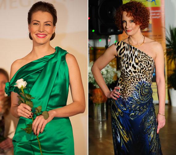 Két műsorvezető, két Nóra: Takács és Teszári - utóbbi kerekesszékes húgával lépett kifutóra.