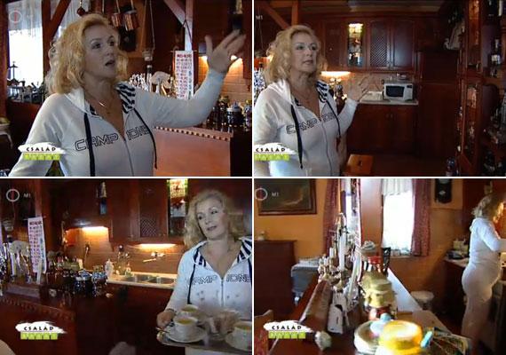 Darvasi Ilona kedvenc helye az ebédlő és a konyha, melyeket a fafaragások tesznek különlegessé. Vonzódik a meleg színekhez, mint a sárga és a cseresznyebarna.
