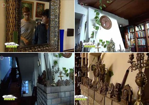 A lakók szemmel láthatóan vonzódnak az antik dekorációs tárgyakhoz, legyen az egy tükör, egy gyertyatartó vagy egy óra.