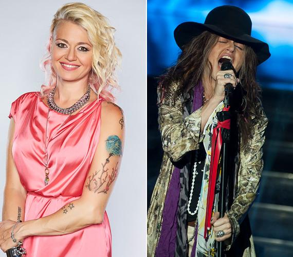 Koós Réka a második évadban mutatta meg, milyen az, amikor Steven Tylerként őrjíti meg a közönséget. A kalap alatt alig lehetett ráismerni a szőke sztárra, aki az Aerosmith énekesének gesztusait is tökéletesen utánozta.