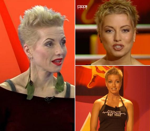 A 39 éves Nóci a Belevalóvilág 7 című műsorban és 2002-ben, a ValóVilág indulásakor.