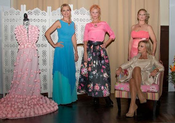 Bényi Ildikó, Rábaközi Andrea egykori modell, Csomor Csilla és Ungár Anikó az érett hölgyek táborát erősítette.