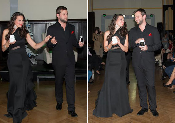 Pikali Gerda színésznőt földigérő, fekete estélyi ruhájában az illúzió nagymestere, Danny Blue vezette be.