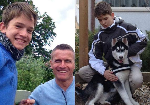 Rékasi Károly és Détár Enikő Zsebinek becézett fiát, a 13 éves Zsigmondot is ritkán látni, de édesapja az utóbbi időben néha kitesz róla egy-egy képet.