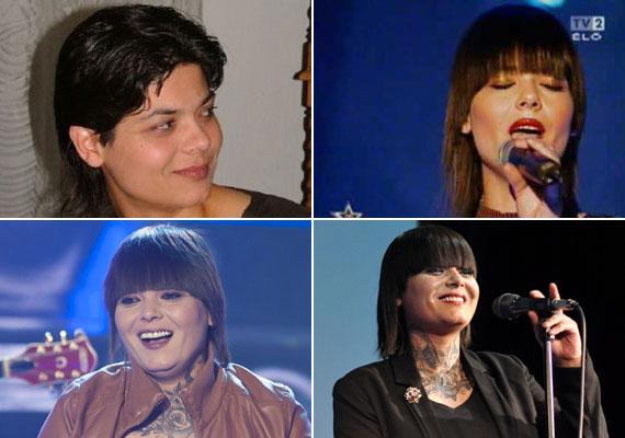 Jellegzetes frizuráját a Megasztár fodrásza álmodta meg, az énekesnő pedig azóta is ragaszkodik ehhez a hajviselethez - így láthattuk tavaly év elején A dal című műsorban, és így áll színpadra a koncertjein is.