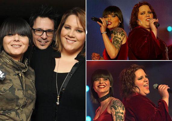Tóth Vera is fellépett már Oláh Ibolya önálló estjén. A két énekesnő a Megasztár óta jóban van egymással - az előbbi megnyerte, az utóbbi második helyezett lett.