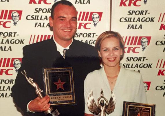 Borkai Zsolttal, aki 1988-ban Szöulban lólengésben olimpiai bajnok lett. 2010-ben a Magyar Olimpiai Bizottság elnökévé választották.