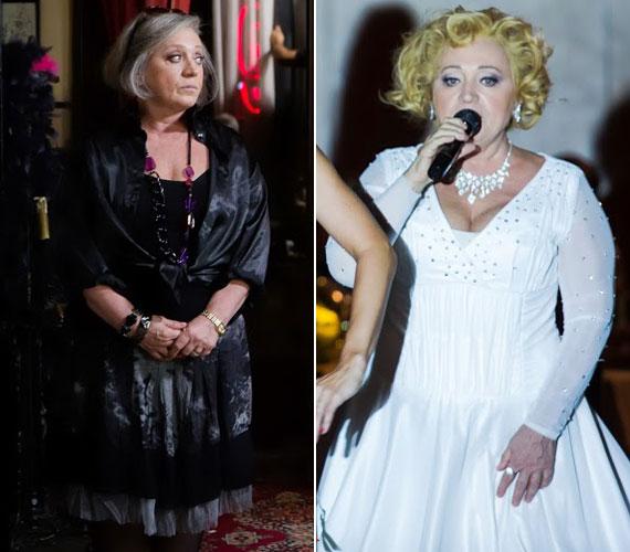 Csákányi Eszter Kossuth- és Jászai Mari-díjas színésznő sem ismerhető fel egykönnyen a filmben. Ő alakítja Ritát, az ötvenen felüli, jómódú budai háziasszonyt, aki klasszikus zenei műveltségű énektanárnő.
