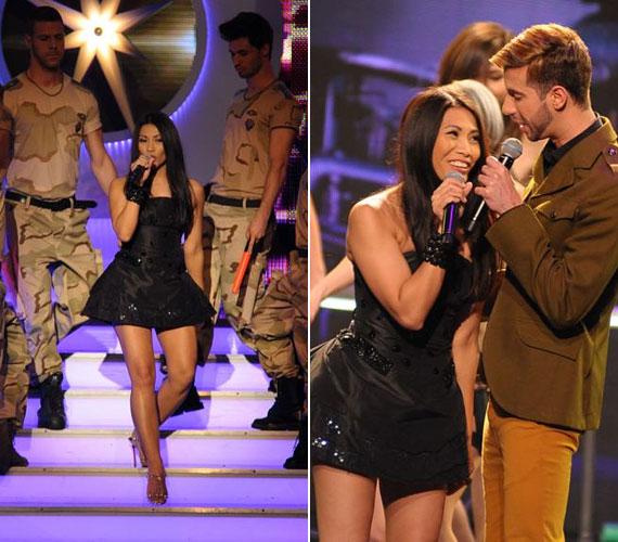 A kiscsillagok mellett színpadra lépett a 2009-es széria döntőse, Varga Viktor a francia sztárénekesnővel, Angunnal.