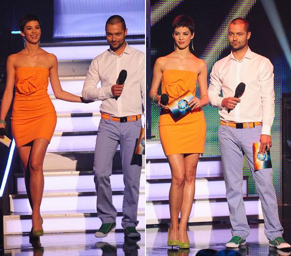 Tavaly Nagy Sándor oldalán vezette a műsort, és az élő show-k alkalmával szebbnél szebb ruhákban mutatta meg tökéletes alakját.