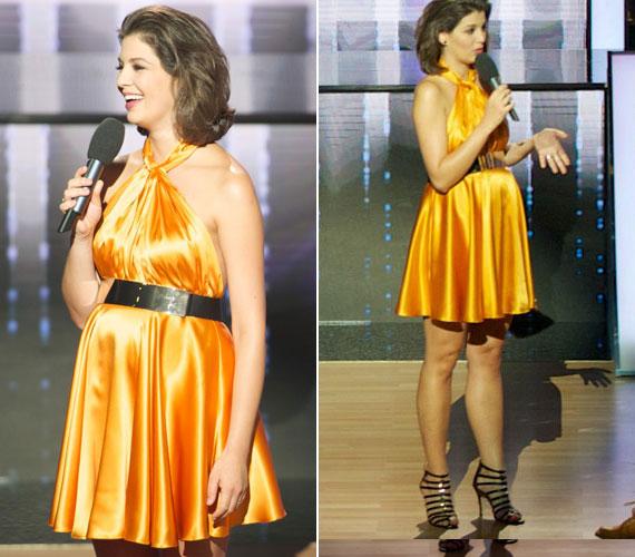 27466957fe A harmadik adást követően sokan kritizálták a tűsarkú cipő és az  aranyszínű, rövid ruha miatt