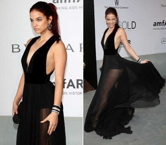 Palvin Barbi a cannes-i filmfesztiválon a fotósok kedvence volt. Az amfAR-gálát követő L'Oréal-partin egy merészen dekoltált, áttetsző Elie Saab estélyiben kacérkodott a fotósokkal. Még több ruháért kattints ide!