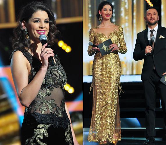 Becker Beatrice két estélyi ruháját is viselte a TV2 tehetségkutatójának döntőjében: a sötétebb színű, áttetsző anyagúban megmutatta, mennyit fogyott, az aranyszínűben pedig királynői jelenség volt, tökéletes választás volt a győzelmi pillanathoz. Szegény Majkát nem sokan figyelték mellette, hiszen ez a csillogás minden szempárt Nórira vonzott.