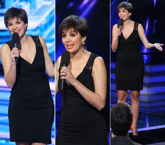 Ez volt az a testhezálló, fekete Dolce & Gabbana ruha, mely elindította a terhességéről szóló pletykákat. Abban ugyanis látványosan gömbölyű volt a műsorvezető pocakja.