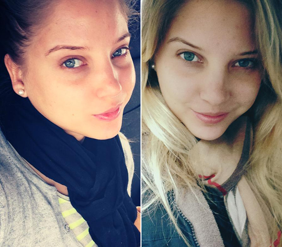 Szabó Zsófi alig változik, ha nem sminkeli ki magát. A fiatal színésznő igazi természetes szépség.