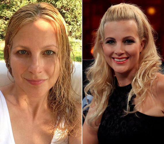 Várkonyi Andrea híradós még nyáron tette ki a Facebookra a fotót, amelyen smink nélkül, vizes hajjal látható.