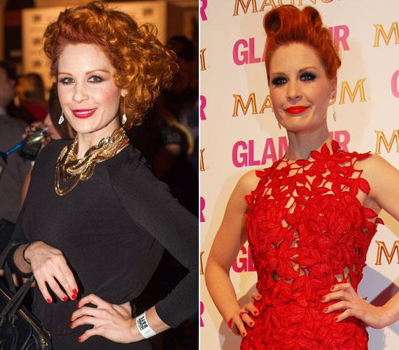A nagyszabású rendezvényeken nemcsak az erőteljes smink, de a megkomponált frizura is elengedhetetlen számára - így volt ez a Marie Claire Fashion Days egyik divatbemutatóján és a 2013-as Glamour-gálán is.