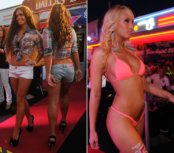 A hamisítatlan countryhangulatú estén a lányok két körben mutatkoztak be a döntnökök előtt: először western stílusban vonultak fel, majd előkerültek a szexi bikinik.