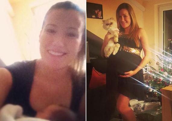 Janicsák Veca hétfőn tudatta a Facebook-odalán, hogy megszületett a kislánya. Emmát egy héttel korábban hozta világra.