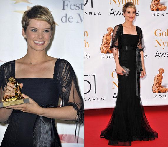 2011-ben az 51. Monte-carlói Nemzetközi Televíziós Fesztiválon fekete muszlinestélyiben vette át az Arany Nimfa-díjat: őt választották a legjobb színésznőnek a Le ragazze dello swing című minisorozatban nyújtott alakításért.