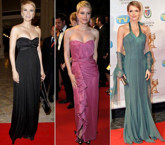 A lágy esésű estélyik különösen jól mutatnak nőies alakján: 2008 augusztusában a Diamond of Cinema Italiano díjkiosztóján feketében, 2009 májusában a 62. Cannes-i Nemzetközi Filmfesztiválon mályvában és 2007 januárjában az olasz TV-díj átadóján türkizzöldben.