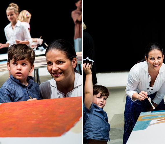 A magyar-olasz származású színésznő-festőnő édesanyától és a dán-ír fotóművész édesapától született Axelo már három éves.