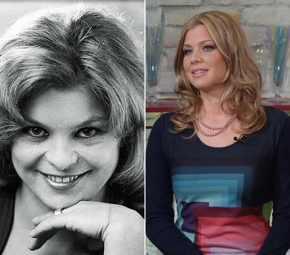Oszvald Marika fiatalkori fotója, illetve lánya az M1 Család-barát című műsorának múlt hétvégi adásában - nem nehéz kitalálni, kire ütött a gyönyörű szőke nő.