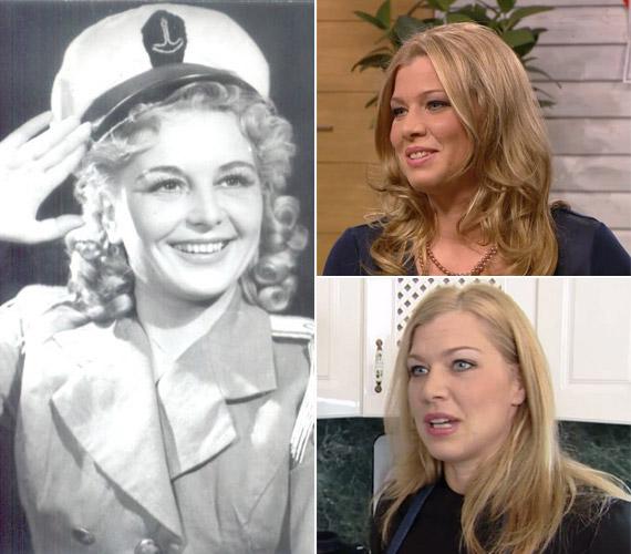 Hídvégi Krisztina nagyanyja, Halasi Marika az Operettszínház szubrettje is gyönyörű nő volt.