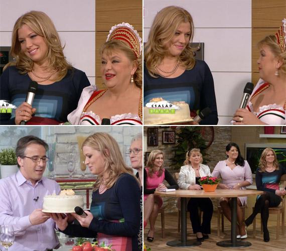 Oszvald Marika lányát a műsorban születésnapja alkalmából még tortával is meglepték.