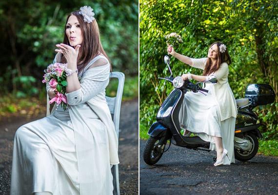 Az RTL Klub egykori műsorvezetője egyszerű fehér ruhában ment férjhez.