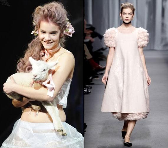 Ugyancsak 2011 őszén az Etam és a Chanel divatbemutatóján még kislányos bájára építettek.