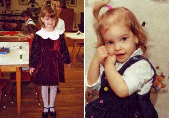 Barbi óvodásként és még fiatalabb korában: a vonásai szinte semmit nem változtak az évek során.