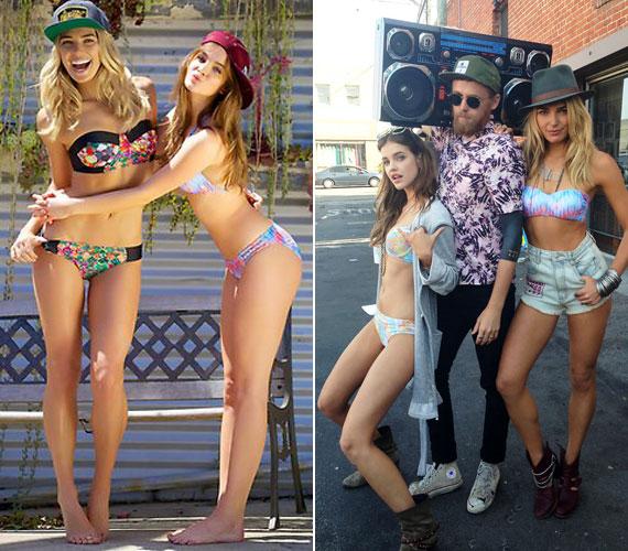 Palvin Barbi Ashley Harttal pózolt a Mambo színes bikinijeiben és nyári ruháiban.