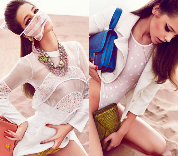 A 19 éves magyar modell egyre merészebb a képeken, már az sem zavarja, ha kilátszik a mellbimbója.