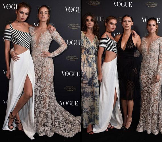 Palvin Barbi Stella Maxwellel, illetve Bella Hadiddal és Taylor Hillel kiegészülve - talán senki sem vitatkozik velünk, ha azt állítjuk, a magyar modell szépségével és ruhaválasztásával is lepipálta kolléganőit.