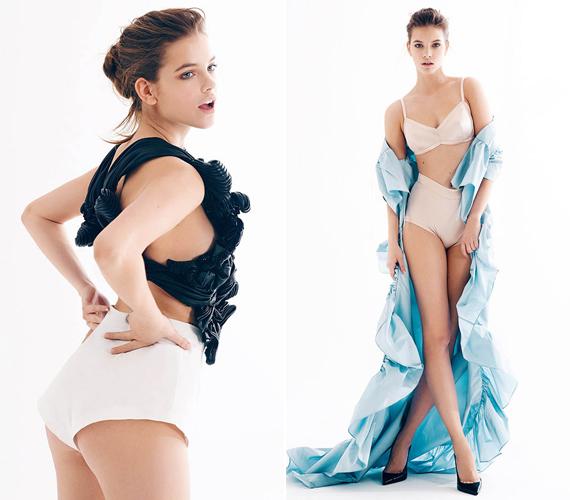 A Victoria's Secret modelljeként már megszokta, hogy bugyiban kell pózolnia.