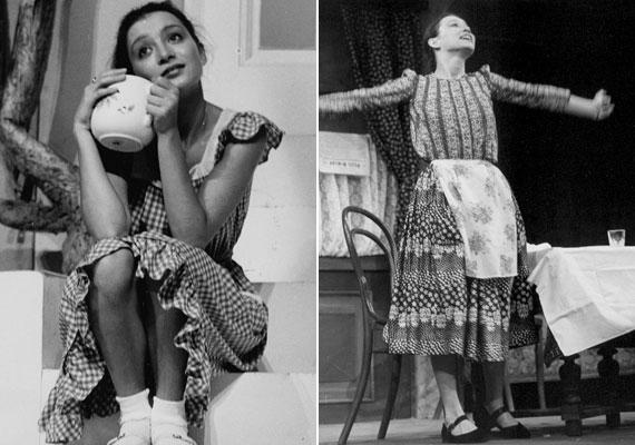 A Színház- és Filmművészeti Főiskola után a Vígszínházhoz került, több filmben is emlékezetes alakítást nyújtott, mint például az 1979-es Angi Verában, a Fehérlófia, a Dögkeselyű vagy A névtelen vár és a Csapd le csacsi! című filmekben. A bal oldali fotó 1978-ban készült A nyár című darabban, a jobb oldali ugyanabban az évben Az üvegcipő című előadásban.