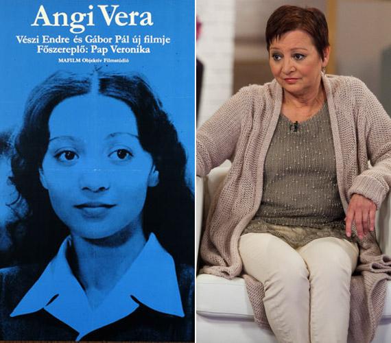 Pap Vera az 1979-es Angi Vera címszerepében és Jakupcsek Gabriella beszélgetős műsorában a hét elején.