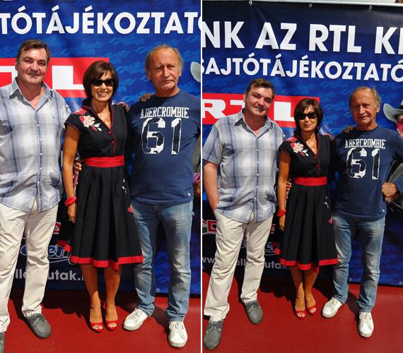 Az ismét Bobbyt szinkronizáló Csankó Zoltán és Larry Hagman magyar hangja, Reviczky Gábor örömmel fogták közre csinos partnernőjüket.