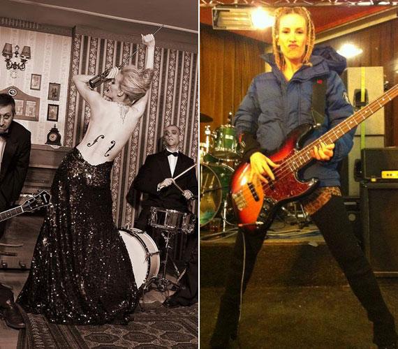 Pásztor Anna egy hónappal a szülés után posztolta a bal oldali fotót, két hónappal a szülés után pedig már az egyik legnagyobb európai fesztiválon, a hollandiai Eurosonicon lépett fel a zenekarra - jobb oldali kép a próbáról.