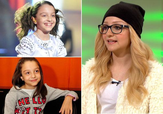 A tízéves kislányból mára 16 éves tini lett, akit szőke hajjal talán sokan fel sem ismertek a FEM3 Café január eleji adásában.